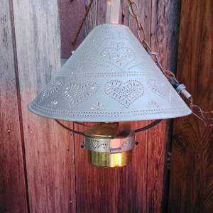 Lot #82 - Hanging Vintage Electrified Oil Lamp (Hardwire)