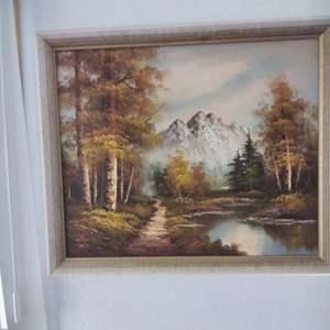 "Lot #87 - Barry Painting 27"" x 23"" Mountain Landscape"