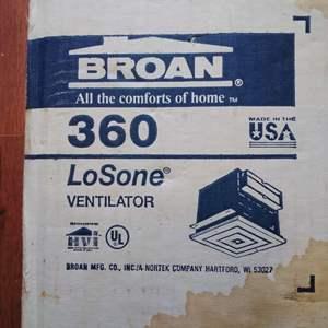 Lot 94 - NEW Broan Losone 360 Ventilator