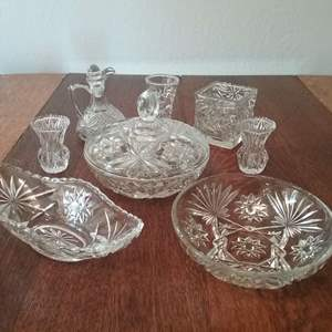 Lot #115-KL:  Another Crystal Lot of Nice Pieces