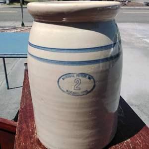 Lot #130-D: Tall Marshall Pottery No. 2 Crock