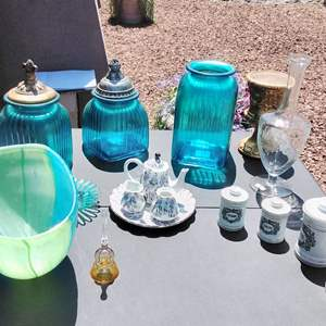 Lot #144-D:  Mixed Lot of Glass and Decor