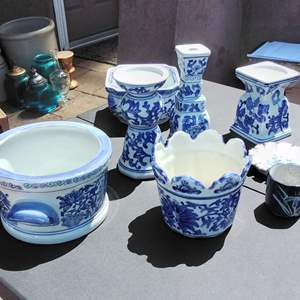 Lot #147-D:  Blue and White China Porcelain