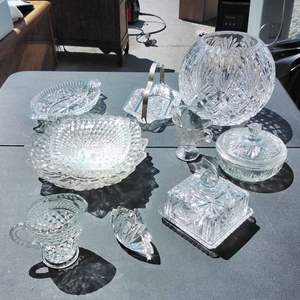 Lot #148-D:  12 pc Lot of Nice Crystal Glass