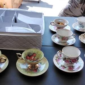 Lot #149-D:  Set of 8 Vintage Teacups and Saucers