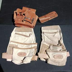 Lot 162-D:  Lot of 4 Tool Belts AWP and WISS