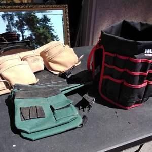 Lot 163-D: Tool Belts AWP and Even a 5 Gal Bucket Tool Belt