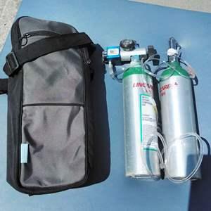 Lot 166-D:  Oxygen Tank and Regulator Set