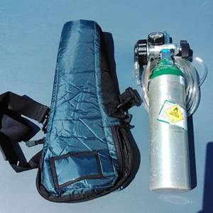 Lot 167-D:  Oxygen Tank and Regulator with Bag #2