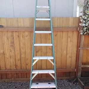 Lot 170-D:  8 Foot Werner Fiberglass Ladder
