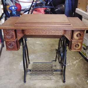 Lot 171-D:  Antique Wheeler and Wilson Sewing Machine Plus