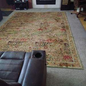 """Lot 179-D:  CLEAN Large Persian Area Rug 126"""" x 93"""""""