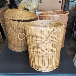 Lot 183-D:  3 Wicker Baskets