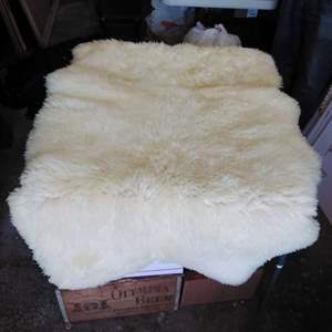 Lot 187-D:  Sheep Skin Rug 62 x 37