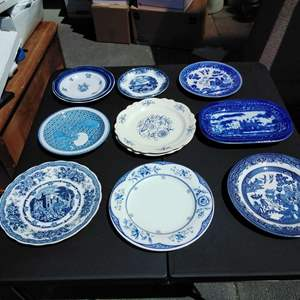 Lot 194-D:  Blue and White Plates Dresden more