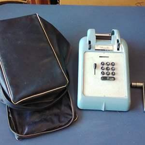 Lot 207-D:  Vintage Adding Machine