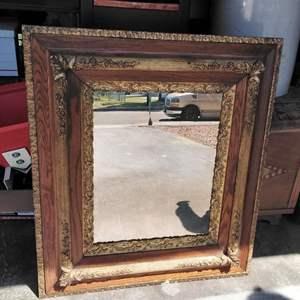 """Lot 212-D:  Antique Mirror 33"""" x 29"""""""