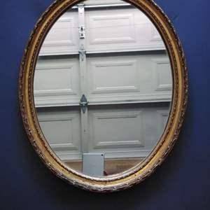 """Lot 219-D:  Oval Mirror 26"""" x 20"""""""