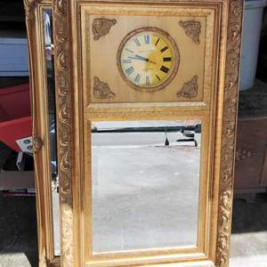 Lot 220-D:  Poirot & Germany Clock and Mirror