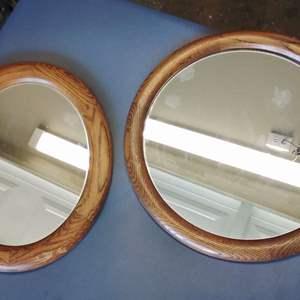 Lot 222-D:  Two Mirrors Oak Frames