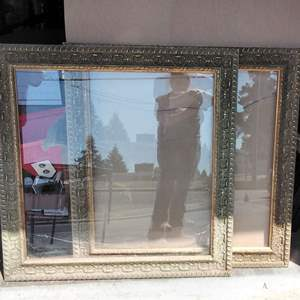 """Lot 225-D:  Two Picture Frames 37"""" x 37"""""""
