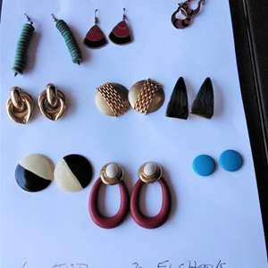 Lot 246-D:  Earring Lot #2