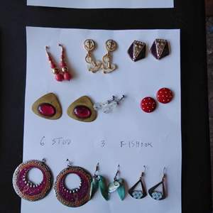 Lot 253-D:  Earring Lot #9