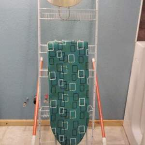 Lot 265 - Wire Rack, Small Ironing Board and Safety Bar for Bed