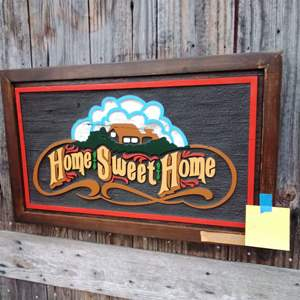 Lot 268-L:  Home Sweet Home Plaque