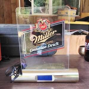 Lot# 285 - MGD Miller Beer Light Up Table Clock