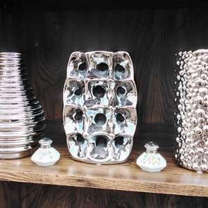 Lot # 287  Three Chome Painted Vases Like New!!
