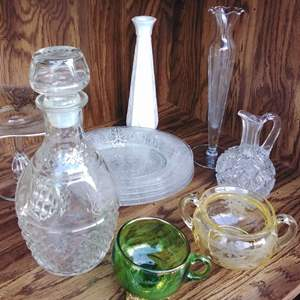 Lot 292-L:  Crystal and Vintage Glass