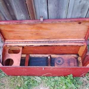 Lot # 301 - Vintage Red Carpenter's Tool Box