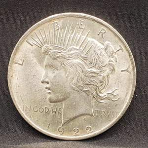 Lot 3 - 1922 UNC Peace Silver Dollar