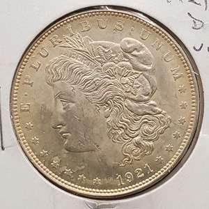 Lot 4 - 1921-D UNC Morgan Silver Dollar