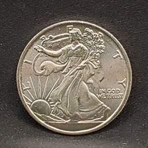 Lot 12 - 1/10 Troy Oz .999 Fine Silver Walking Liberty Eagle