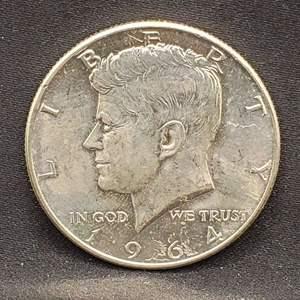 Lot 14 - 1964 MS64 Kennedy Silver Half Dollar