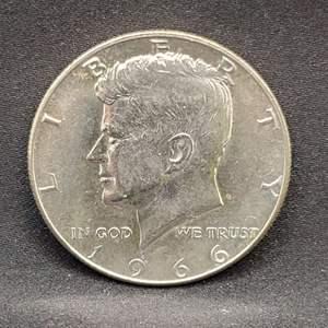 Lot 15 - 1966 UNC Kennedy Half Dollar