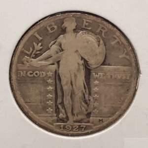 Lot 17 - 1927 Silver Standing Liberty Quarter Dollar