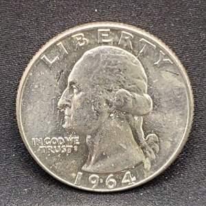 Lot 18 - 1964-D MS63+ Silver Washington Quarter Dollar