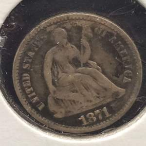 Lot 20 - 1871 Silver Seated Liberty Half Dime