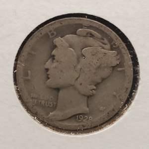 "Lot 23 - 1928-D Silver Winged Liberty Head ""Mercury"" Dime"