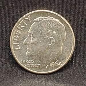 Lot 25 - 1964 Silver UNC Roosevelt Dime