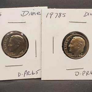 Lot 26 - 1978-S CAMEO and 1972-S Proof-65 Roosevelt Dimes