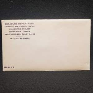 Lot 52 - 1965-S. S. Special US Mint Set, Sealed.  See link for photo of contents