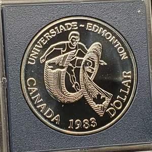 Lot 59 - 1983 Proof SILVER Canadian One Dollar UNIVERSIADE-EDMONTON