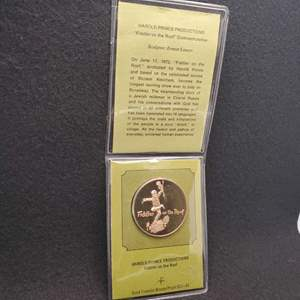 Lot 66 - Fiddler on the Roof Solid Franklin Bronze Proof SCI-80 commemorating the longest running show on Broadway
