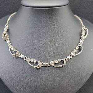 Lot 77 - Circa 1930's almost antique Sterling Evening Wear Necklace
