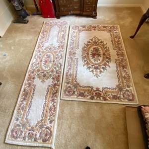 Lot # 6- Rugs Fresh from Cleaners, Still in Plastic Bags. Size in pics.