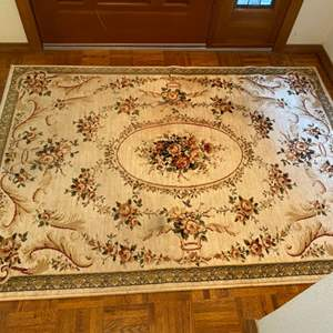 "Lot # 35- 100% Bulgarian Wool Rug, Ivory, 47x67""."